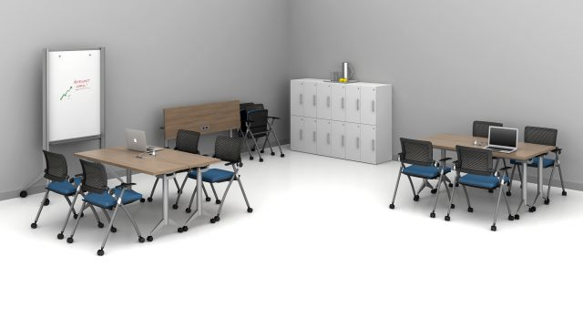 """Day-to-Day 18"""" Flip-Top Tables and Stow seating training room 1"""