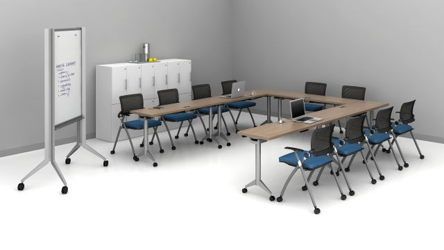 """Day-to-Day 18"""" Flip-Top Tables and Stow seating training room 2"""