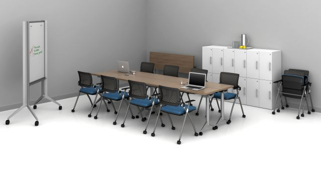"""Day-to-Day 18"""" Flip-Top Tables and Stow seating training room 3"""