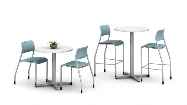 Day-to-Day Cafe Tables with Pierce Seating