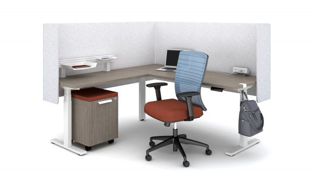 """Day-to-Day 3 leg Height Adjustable Table 24"""" and 30"""" Deep"""
