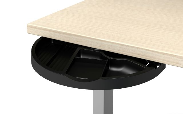 Radius Jr. Under-worksurface spin-out drawer