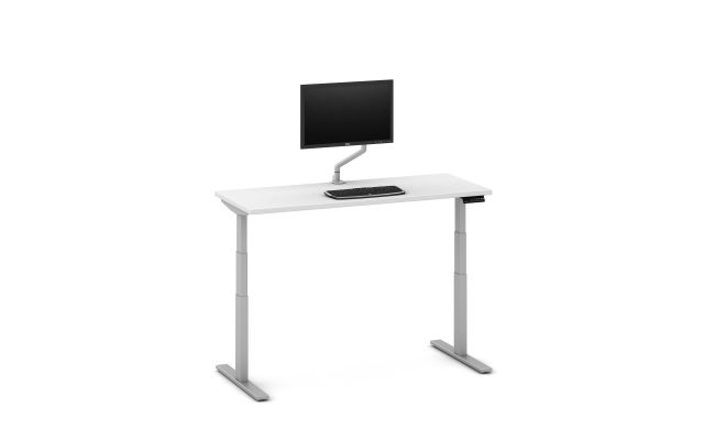 "Day-to-Day 24"" D Height Adjustable Table with attached Monitor Arm"