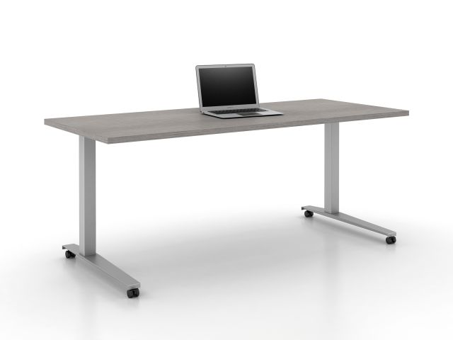 Day-to-Day Table with Steel C-Base on Casters