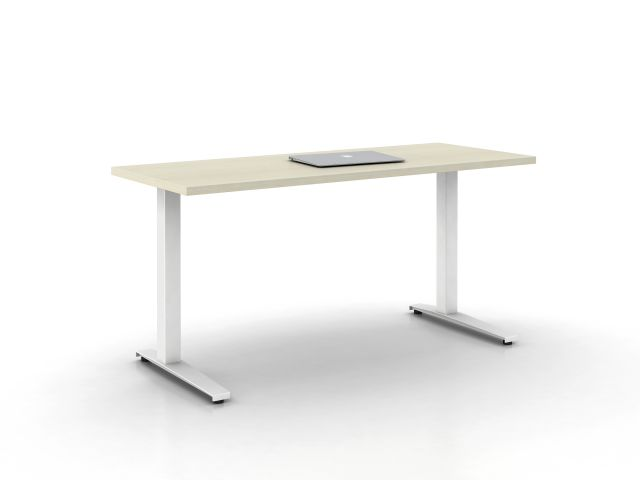 Day-to-Day Table with Steel C-base on glides