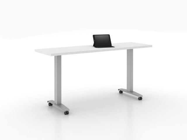 Day-to-Day Table with Steel T-Base on casters