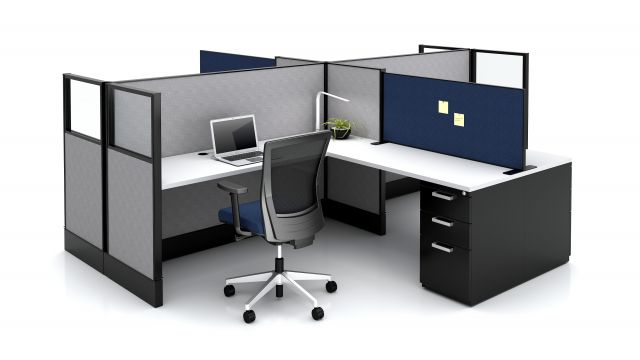 Divi Workstation with Freestanding Slimline Screen