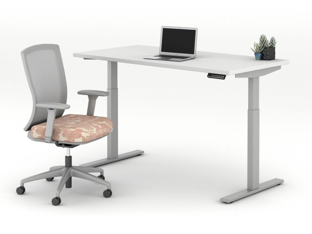 E Series Height Adjustable Table with Natick Task Seating