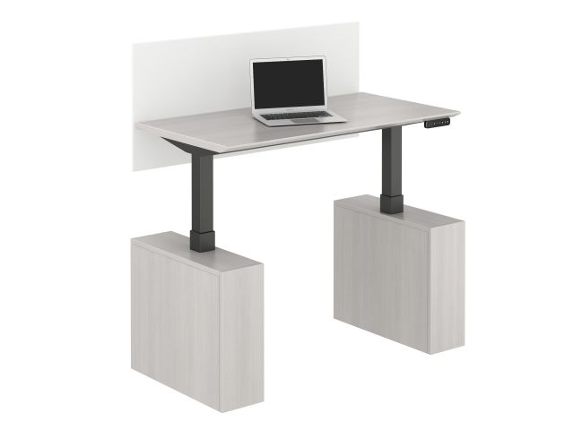 Calibrate Series Executive Height Adjustable Desk in Highest Position