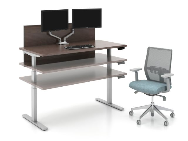 Day to Day Height Adjustable Table at Multiple Heights