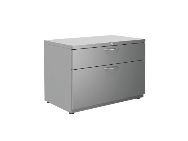 "L Series Steel Storage 30"" wide B/F Lateral File with feet"
