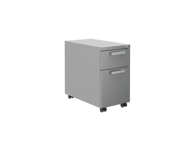 "L Series Steel Storage B/F 12"" Pedestal on casters"