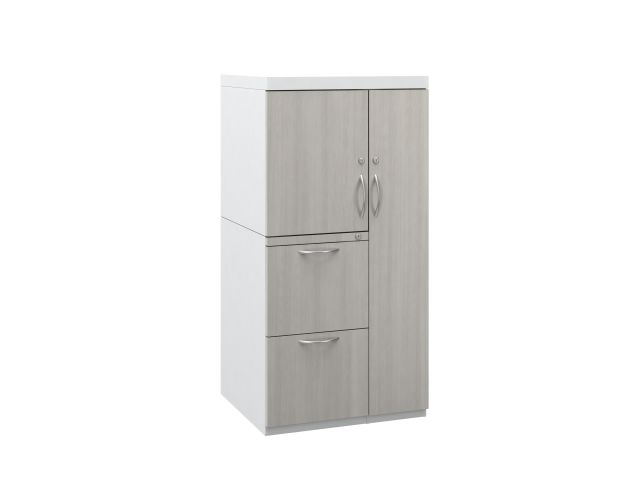 L Series Steel Storage 50 inch Wardrobe Tower with Laminate Fronts