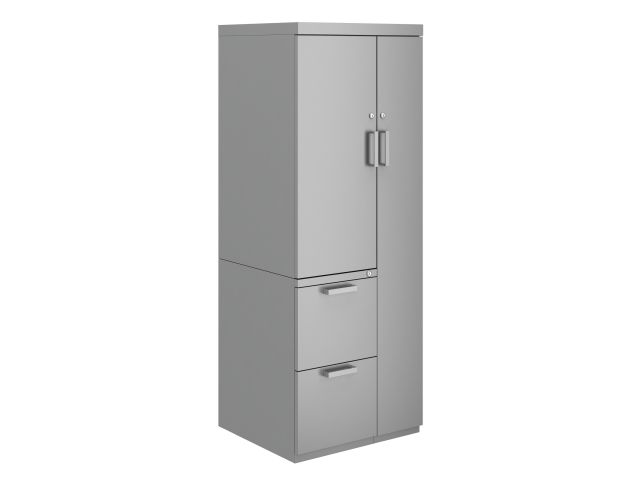 L Series Steel Storage Wardrobe Tower with Cupboard