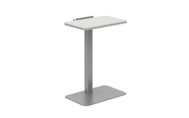 Laptop Table with Cloud top and Metallic Silver base