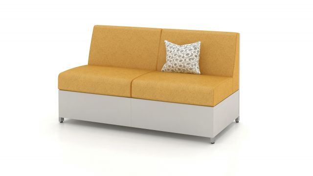 LB Solid Base Lounge Seating Medium Height Back