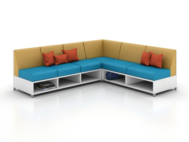 LB Low Back Lounge with Corner Application