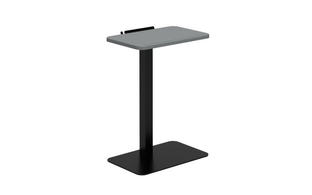 Laptop Table with Shark Grey top and Black base
