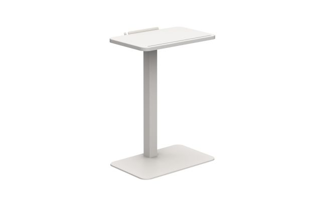 Laptop Table with Glacier White top and Grey Value base