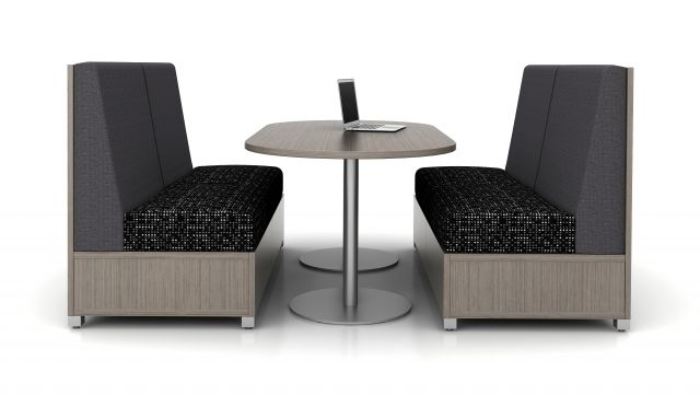 LB Lounge with Double Disc Base Day-to-Day Table