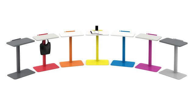 Laptop Table in a Rainbow of Colors with optional baghook
