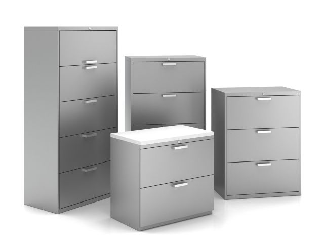 L Series Lateral Storage Family with Rectangle Pulls