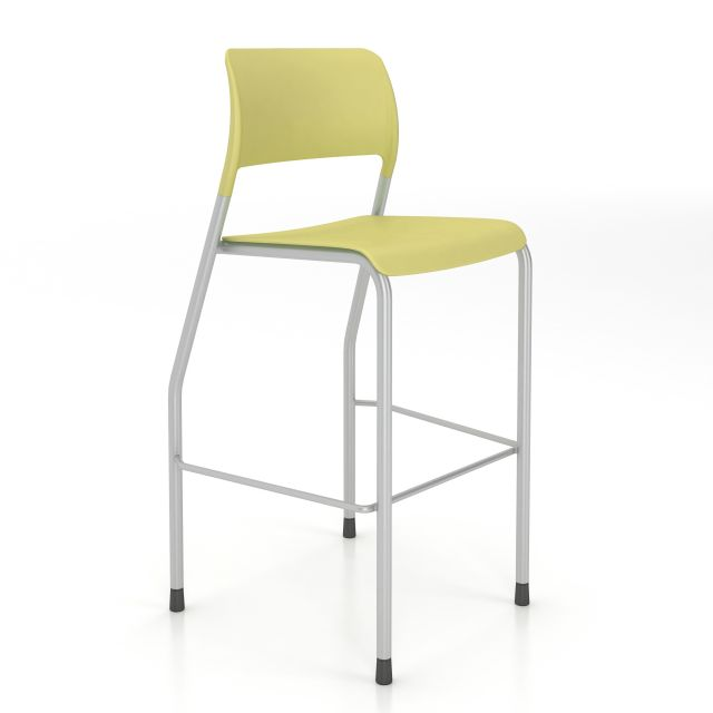 Pierce Stool with Glides in Limeade