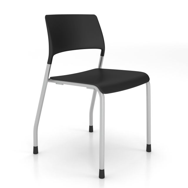 Piece Stack Seating, Black with glides