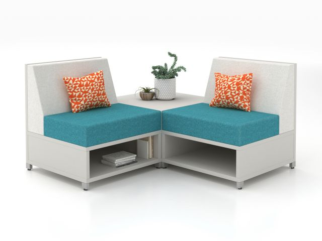 LB Lounge Single Seat with corner table