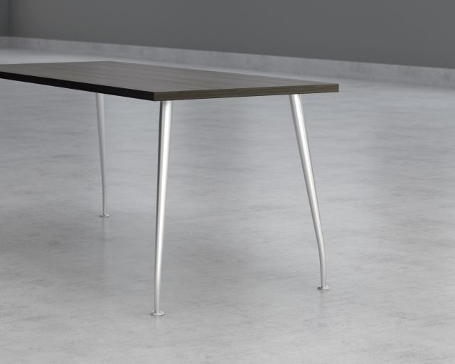 Detail view of slim leg table option