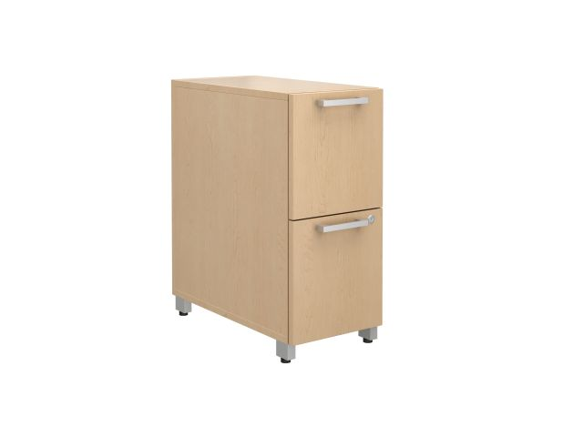 "Calibrate Series Storage 12"" F/F Pedestal on casters"