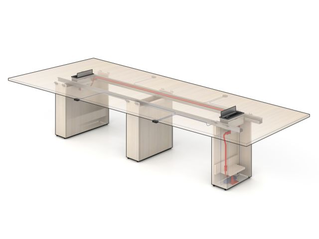 Calibrate Laminate Conference Table with power and data detail