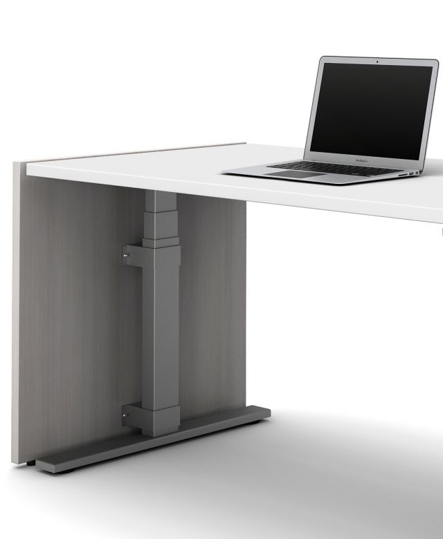 End Panel attachment detail to Day-to-Day Height Adjustable Table