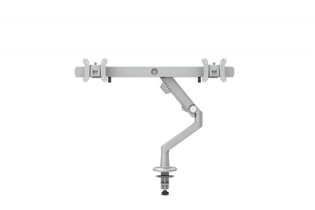 Dual Monitor Arm for Shallow Depth Worksurfaces