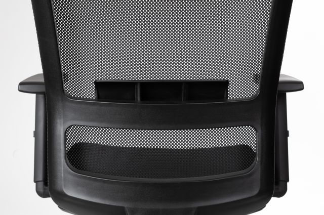 Revere Task Seating Lumbar Detail in up position
