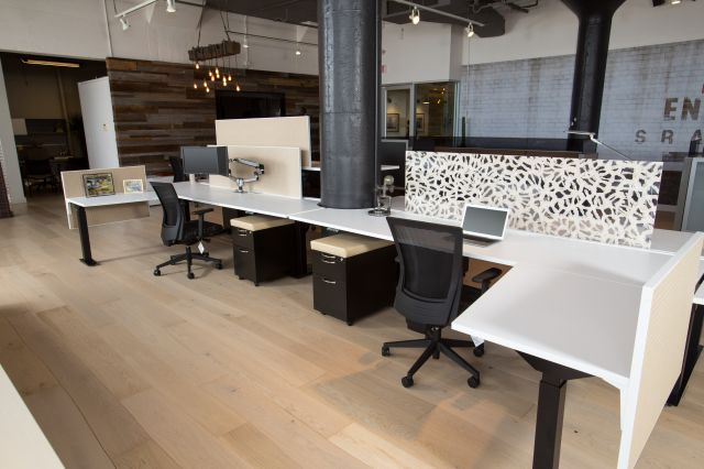 Aloft Shared Benching and Desking Workstation