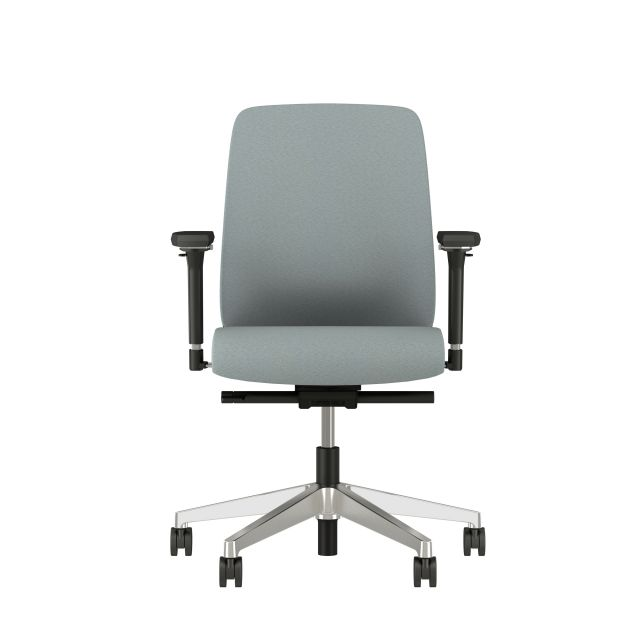 Bolton Midback Fully Upholstered with 4D arms, front view