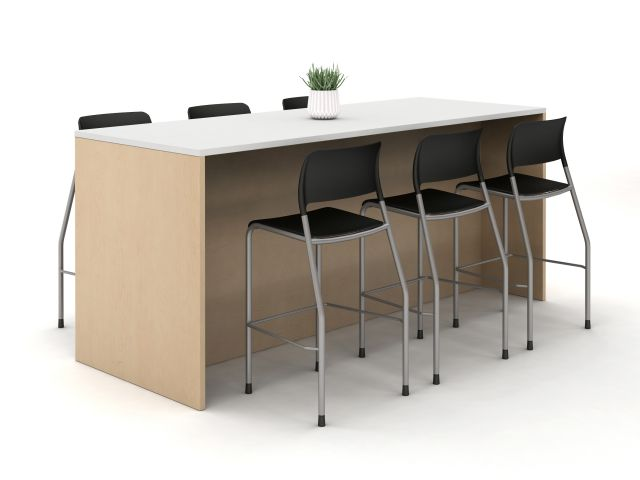 Calibrate Standing Height Table with Full Modesty Panel and Piece Stools