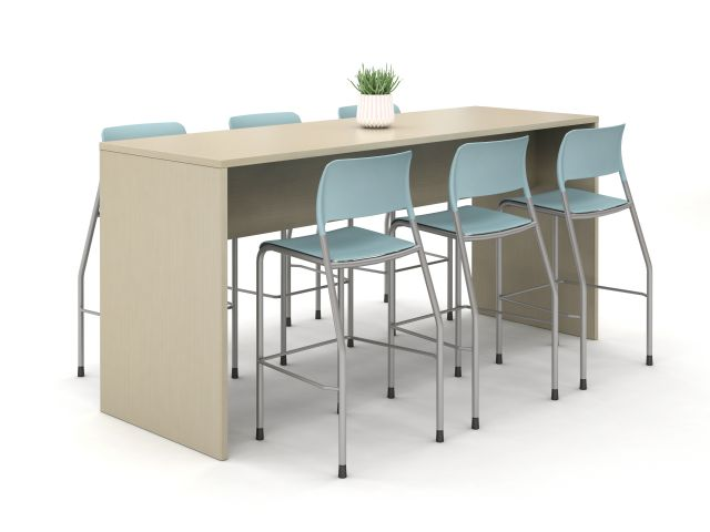 Calibrate End Panel Table at Standing Height with Pierce Stool