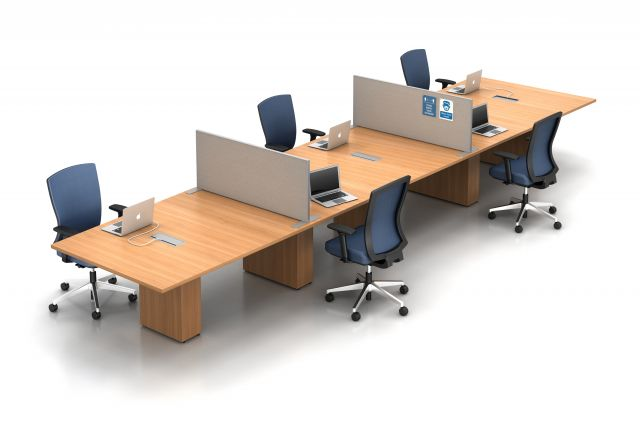 Calibrate Conferencing with Slimline Freestanding Screens