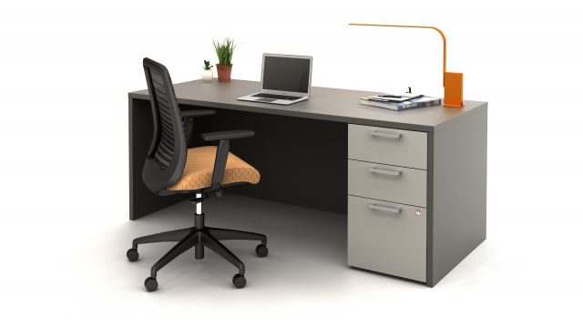 Calibrate Series Desk with Bolton Seating