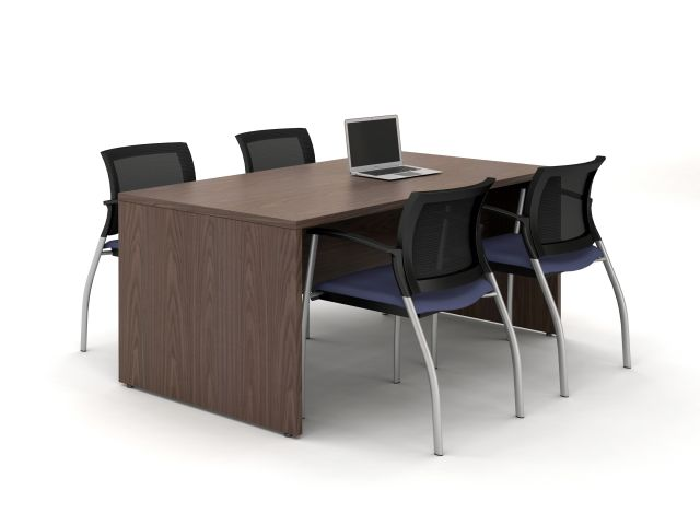 "Calibrate Series Flush End Panel Conference Table, 72 x 36"", no power"