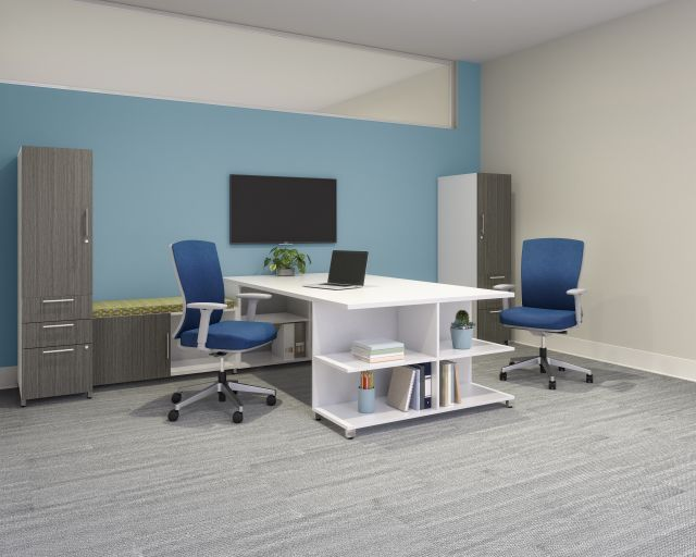 Calibrate Series Casegoods Custom Private Office with Natick Seating