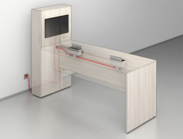 Calibrate Conferencing with Locker End Interior Power Detail