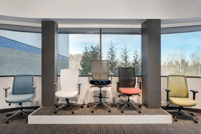 AIS Headquarters Chair Display Task and Stool Seating