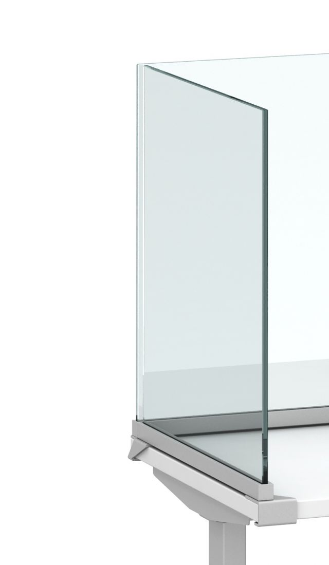 Channel Screen UnderSurface Mount with Glass Detailed View