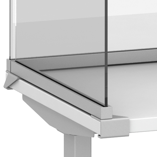 Channel Undersurface Mount detail for Lexan and Glass Screens