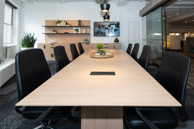 NeoCon 2021 Calibrate Conference Table with Auburn Conference Seating