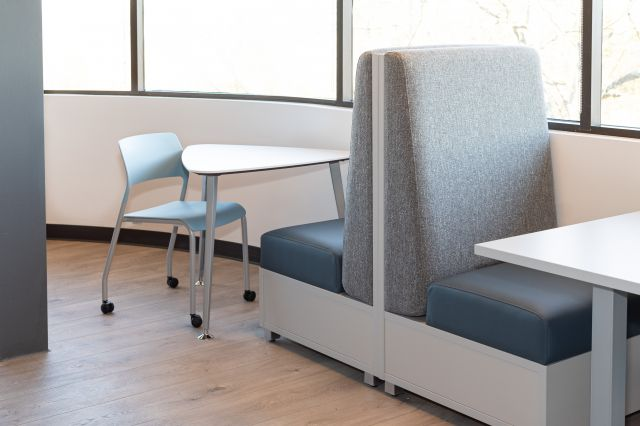 Cafe at AIS Headquarters with LB Single Seat Lounge, Pierce Seating and Day-to-Day Table