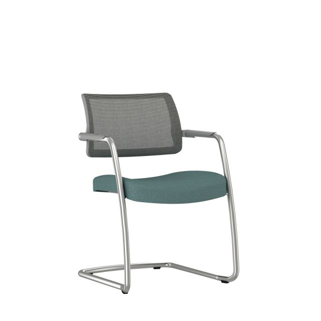 Devens Side Chair with Grey Mesh Back and Gem Stream Seat